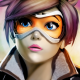 lana oxton, art, blizzard, girl, glasses, overwatch, face, games wallpaper