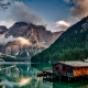 italy, mountains, lake, forest, beautiful, nature wallpaper