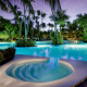 sofitel fiji resort and spa, pool, hotell, tropics, palms, sofitel, fiji wallpaper