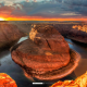 horse shoe bend, arizona, colorado river, red dessert, canyon, nature wallpaper