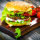hamburgers, fast food, tomatoes wallpaper