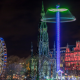 edinburgh, scotland, city, evening, night, ferris wheel wallpaper