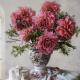 dahlias, flowers, vase, bouquet wallpaper