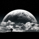 planet, surreal, moon, clouds, graphics wallpaper