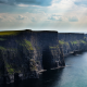 cliffs of moher, cliff, sea, nature, clouds, county clare, ireland wallpaper
