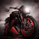 triumph speed triple, bike, motorcycle, dark, clouds, night, triumph wallpaper