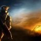 Halo, video games, sunset wallpaper