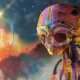artwork, digital art, aliens, psychedelic, colorful, science fiction wallpaper