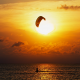 kitesurfing, sport, sea, extreme, beautiful, sun, sunset, nature wallpaper