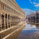 venice, st. marks basilica, cathedral, doges palace, italy, flood, reflection wallpaper