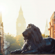 lion, city, london, england, monument, big ben, elizabeth tower,  wallpaper