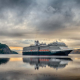 ms eurodam, ship, cruise ship, reflection, clouds, nature, water, holland america line, canada wallpaper