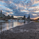 dresden, germany, saxony, city, clouds, river wallpaper