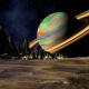 saturn, space, planet, 3d graphics, art wallpaper