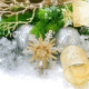 new year, balls, snowflakes, fir branch, christmas, holidays wallpaper