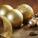 new year, balls, cones, golden, christmas, holidays, decorations wallpaper