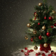 christmas tree, christmas, toys, snow, holidays, new year wallpaper