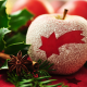 new year, holidays, apple, star anise, branch, christmas, decorations wallpaper