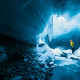 gigjokull, ice, ice cave, winter, glacier cave, iceland, nature wallpaper