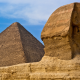 egypt, sphinx statue, pyramid, sand, desert, architecture, desert wallpaper
