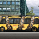 photo, city, bus, graffiti, art, snake, cars wallpaper