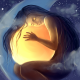 stars, clouds, dream, globe, sphere art, girl wallpaper
