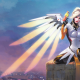 mmofps, mercy, overwatch, artwork, blizzard, video games wallpaper