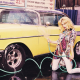 jessica stam, women, car washing, blonde, retro car, cars wallpaper
