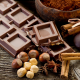 chocolate, nuts, food wallpaper