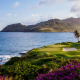 kauai lagoons golf glub, hawaii, ocean, mountains, palm trees, nature, kauai, hawaii, usa wallpaper