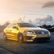 golden, Volkswagen passat, car, sun rays, Volkswagen wallpaper