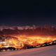 Zakopane, city, night, Poland, cityscape wallpaper