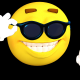 smiley, smile, sunglasses, 3d graphics wallpaper