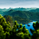 nature, landscape, mountains, hill, lake, bavaria, germany, walchensee, karwendelgebirge wallpaper