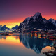 Lofoten islands, Norway, mountains, cityscape, Lofoten, reflections, sea, water wallpaper