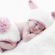 baby, blanket, sleep, hat, ears, tail, bunny wallpaper