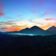 mountains, sky, bali, sunrise, indonesia, kintamani, nature wallpaper
