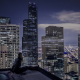 architecture, cityscape, city, skyscraper, clouds, modern, night, lights, rooftops, women, model, bl wallpaper