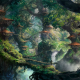 fantasy art, wizard, forest, trees, house wallpaper