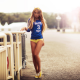 sport, women, girl, eunning shoes, short shorts wallpaper
