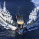 ship, sea, south china sea, coast guard, detention of the offender wallpaper