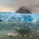 glaciers, mist, fjord, Chile, panoramas, mountain, clouds, sunrise, water, cold, nature, landscape wallpaper