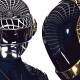 Daft Punk, music, helmet, robots wallpaper