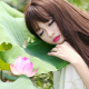 asian, long hair, makeup, flowers, women, plants, closed eyes, face, lotus wallpaper