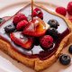 berry, strawberry, honey, blueberry, french toast, food, breakfast wallpaper