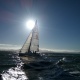 regatta, sea, sailboat, sport, sun, waves, nature wallpaper