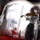 anime, anime girls, violin, violin girl, headphones, rose, leaves, building, architecture wallpaper