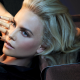 blonde, face, black clothing, painted nails, Charlize Theron wallpaper