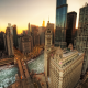 Chicago, hdr, skyscrapers, usa, city, sunset, Illinois wallpaper