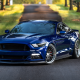 ford, cars, road, blue cars, tuning, ford mustang gt, vossen wheels wallpaper